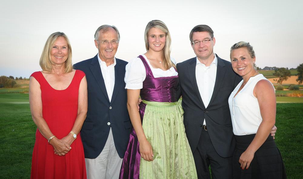 Großes Herz für Münchner Kinder: Sybille Beckenbauer, Robert Salzl, Natalie Geisenberger, Dr. Volker Borkowski und Martina Eberl.