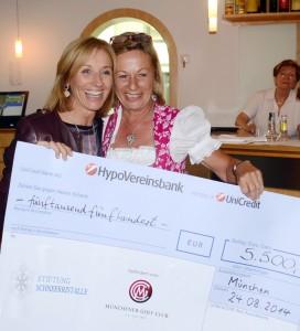 Michaela Gerg (links) freut sich mit Claudia Bachmair-Vogl über den tollen erlös der Veranstaltung.