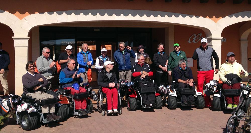 Vor dem Start noch rasch ein Foto: BGC-Equipe vor dem Clubhaus in Maioris. Foto: S. Margerita