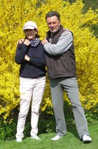 Die BayMeGo-Mitglieder Sibylle Seidl-Cesare und Herbert Steffe testeten schon einmal den hervorragend gepflegten Golfplatz in Starnberg.