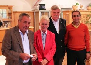 Dr. Werner Proebstl, Margot Kastl, Theo Muffert und Maik Pour.