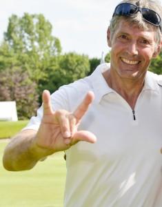Gehörlosen-Golfer Dieter Beckenbauer-Wenig im Golfpark München-Aschheim. Foto: Wirtz