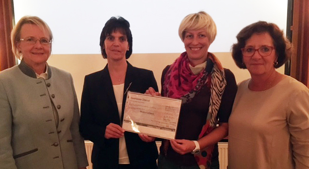 Von links:  Ursel Wrede, Andrea Riedmann, Carolin Achleitner, Elisabeth Krampe-Albath.
