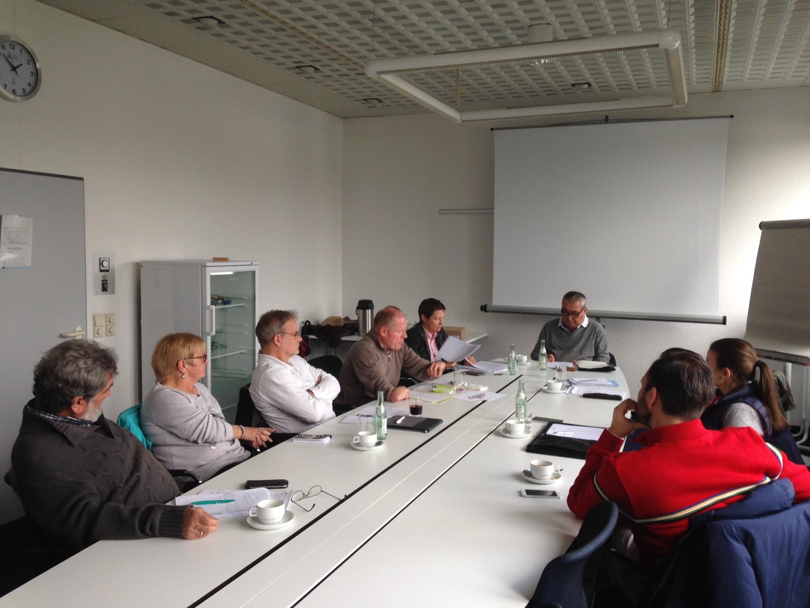 """Ideen, Diskussionen, Erfahrungsaustausch: erstes Meeting der GC-Inklusionsbeauftragten im """"Haus des Sports"""". Foto: Bräuninger"""