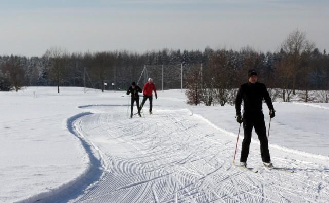 Betrieb auf der Loipe der GolfRange Brunnthal. Foto: Huber