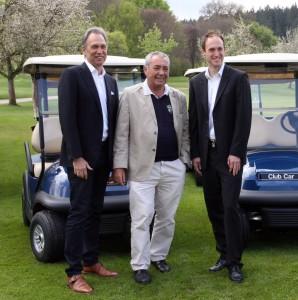 Rainer Goldrian (Geschäftsführer PGA of Germany), Dr. Werner Proebstl und rechts Mark Rothballer (Manager Pro Golf Tour). Foto: Horst Huber