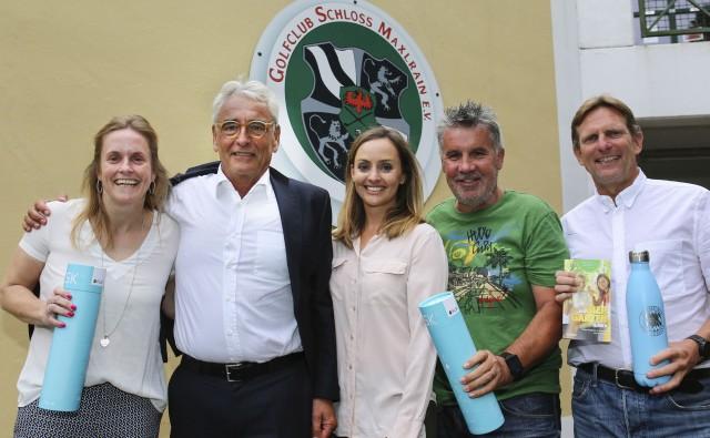 Siegerehrung, von links: Dagmar Krauß, BGV-Vize und Maxlrain-Präsident Malte Uhlig, BGV-Pressesprecherin Patricia Heinlein, Günter Zapf und Ralph Scheuerer. Foto: Sepp Beck
