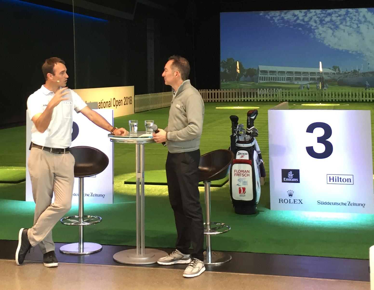 Talk Florian Fritsch (links) mit Ralf Exel.
