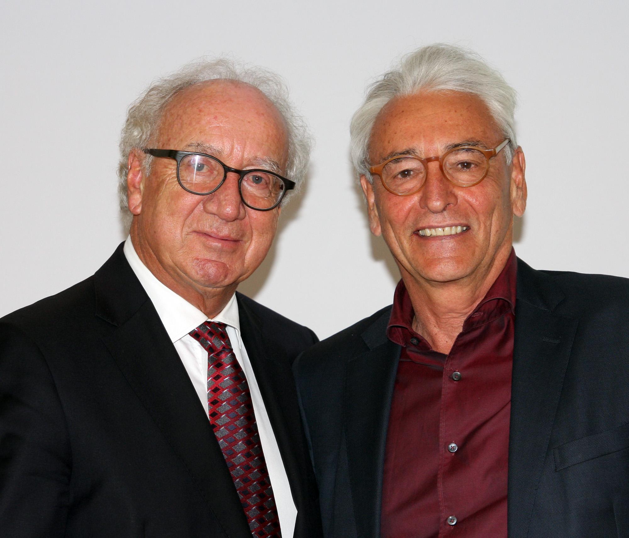 Ehrenpräsident Norbert Löhlein (links) und der neue Präsident Arno Malte Uhlig. Foto: Horst Huber